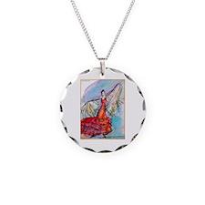 Falmenco dancer, bright Necklace Circle Charm