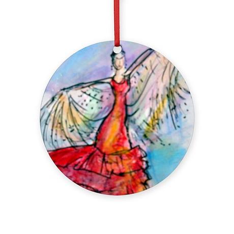 Falmenco dancer, bright Ornament (Round)