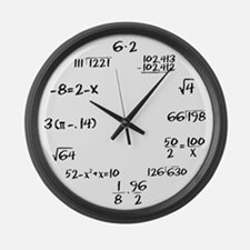 Whiteboard with Black Marker Large Wall Clock
