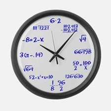 Whiteboard with Blue Marker Large Wall Clock