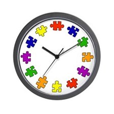 Colors of Autism Wall Clock
