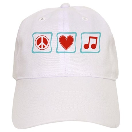 Peace, Love and Music Squares Cap