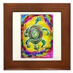 Abstract Turtle Framed Tile
