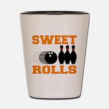 Funny Bowling Sweet Rolls Shot Glass