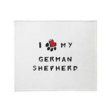 I *heart* My German Shepherd Throw Blanket