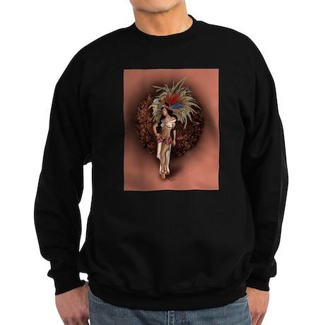 Aztec Princess Pin-Up Sweatshirt (dark)