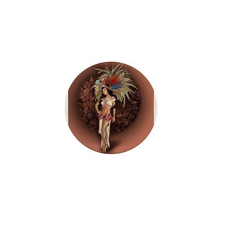 Aztec Princess Pin-Up Mini Button (100 pack)