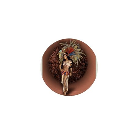 Aztec Princess Pin-Up Mini Button