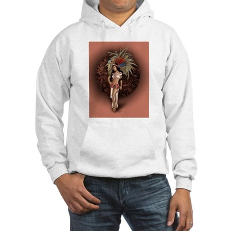 Aztec Princess Pin-Up Hooded Sweatshirt