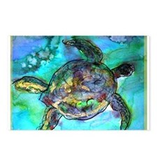 Sea Turtle, bright, Postcards (Package of 8)