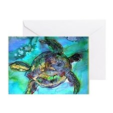 Sea Turtle, bright, Greeting Card