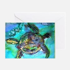 Sea Turtle, bright, Greeting Card