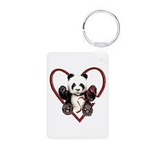 China Panda Love Keychains