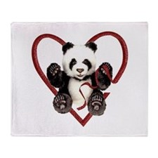 China Panda Love Throw Blanket