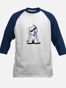 Doggles Westie Kids Baseball Jersey