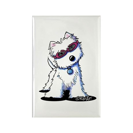 Doggles Westie Rectangle Magnet