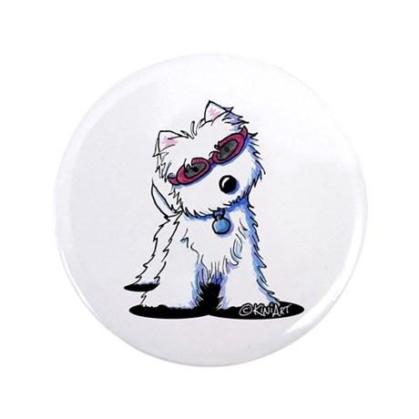 """Doggles Westie 3.5"""" Button"""