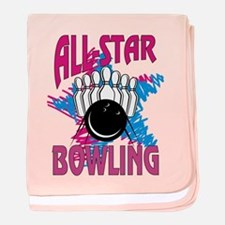 All Star Bowling baby blanket