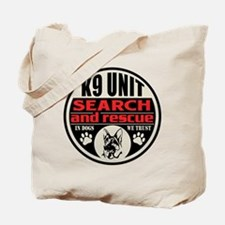 K9 Unit Search and Rescue Tote Bag