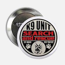 """K9 Unit Search and Rescue 2.25"""" Button"""