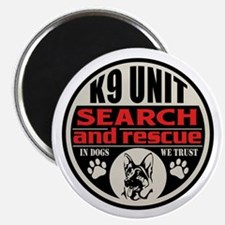 K9 Unit Search and Rescue Magnet