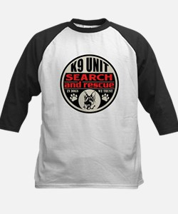 K9 Unit Search and Rescue Kids Baseball Jersey