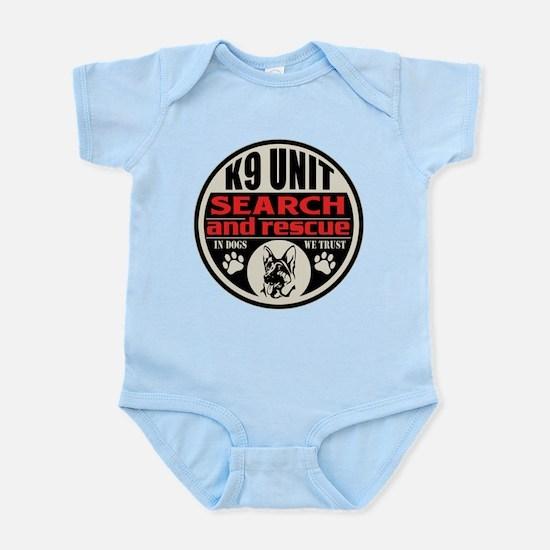 K9 Unit Search and Rescue Infant Bodysuit
