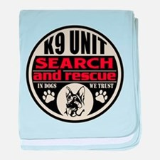 K9 Unit Search and Rescue baby blanket