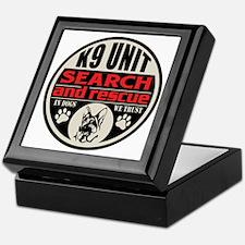 K9 Unit Search and Rescue Keepsake Box