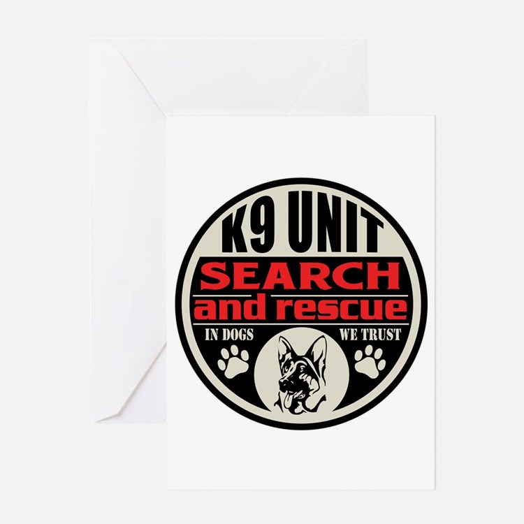 K9 Unit Search and Rescue Greeting Card