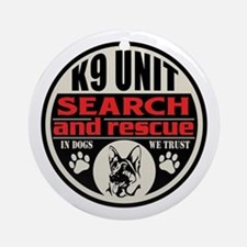 K9 Unit Search and Rescue Ornament (Round)