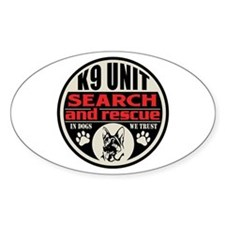 K9 Unit Search and Rescue Decal