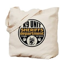 K9 In Dogs We Trust Sheriffs Department Tote Bag