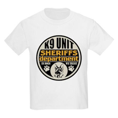 K9 In Dogs We Trust Sheriffs De Kids Light T-Shirt