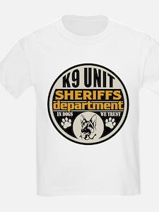 K9 In Dogs We Trust Sheriffs De T-Shirt