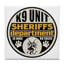 K9 In Dogs We Trust Sheriffs Departme Tile Coaster