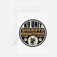 K9 In Dogs We Trust Sheriffs Departm Greeting Card