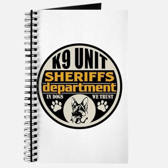 K9 In Dogs We Trust Sheriffs Department Journal