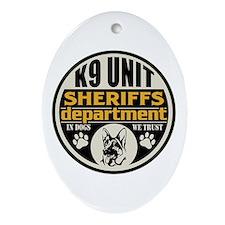 K9 Unit Sheriffs Department Ornament (Oval)