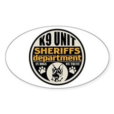 K9 In Dogs We Trust Sheriffs Depart Decal