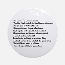 10 Commandments Ornament (Round)