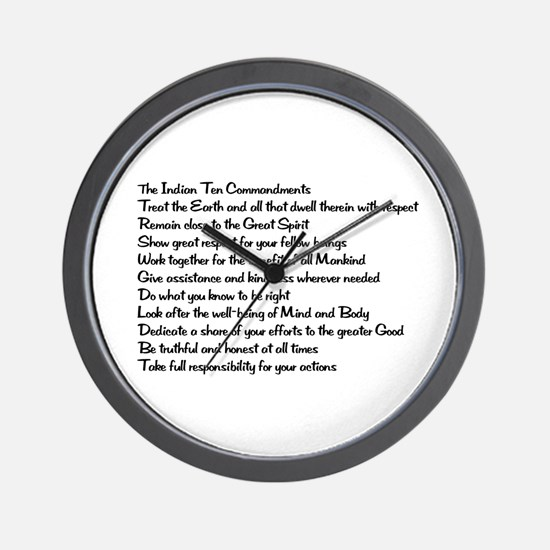 10 Commandments Wall Clock