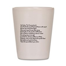 10 Commandments Shot Glass