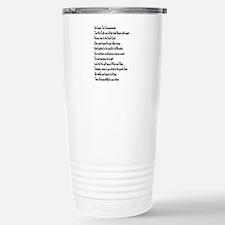 10 Commandments Travel Mug