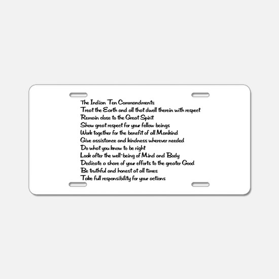 10 Commandments Aluminum License Plate