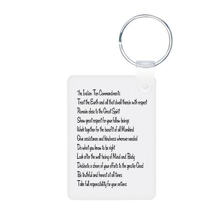 10 Commandments Aluminum Photo Keychain