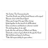 Native american ten commandments Postcards