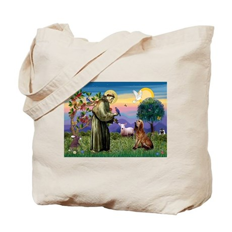 St Francis & Bloodhound Tote Bag