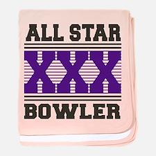 All Star XXX Bowler baby blanket