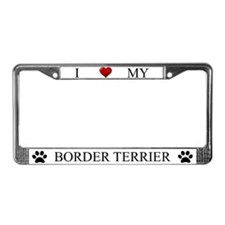 White I Love My Border Terrier Frame
